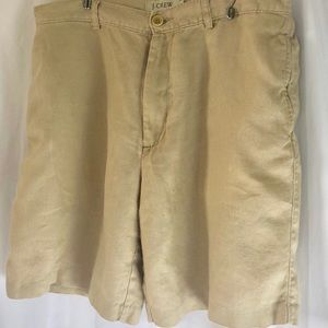 J Crew Men's Linen Shorts 36